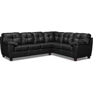 Ricardo 2-Piece Innerspring Sleeper Sectional with Right-Facing Sofa - Onyx
