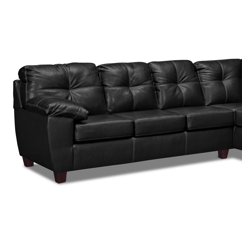 Ricardo Italian Leather Sofas: Ricardo 2-Piece Innerspring Sleeper Sectional With Right