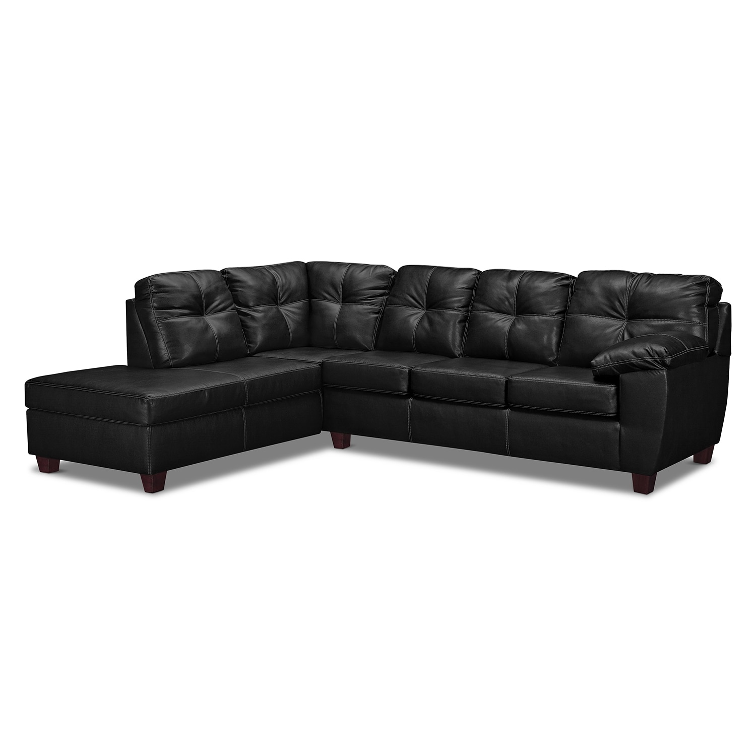 Rialto Onyx 2 Pc. Innerspring Sleeper Sectional with Left-Facing Chaise