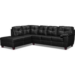 Ricardo 2-Piece Innerspring Sleeper Sectional with Left-Facing Chaise - Onyx