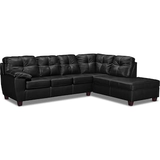 Ricardo 2-Piece Innerspring Sleeper Sectional with Right-Facing Chaise - Onyx