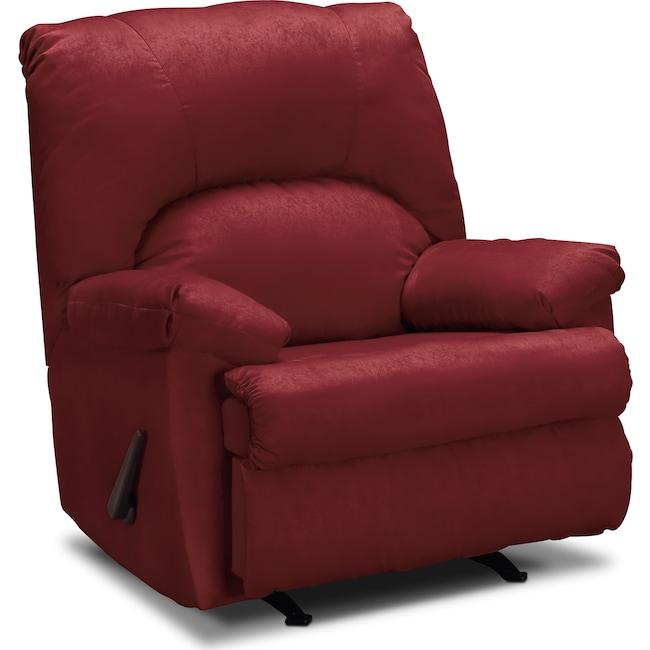 Living Room Furniture - Quincy Rocker Recliner - Garnet