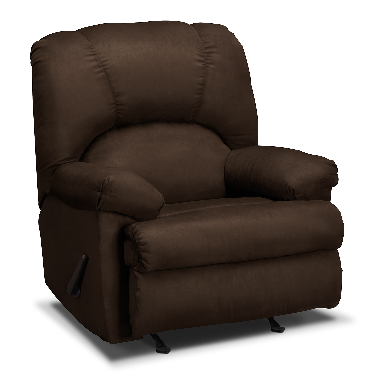 Value City Furniture Clearance Center: Quincy Rocker Recliner - Chocolate