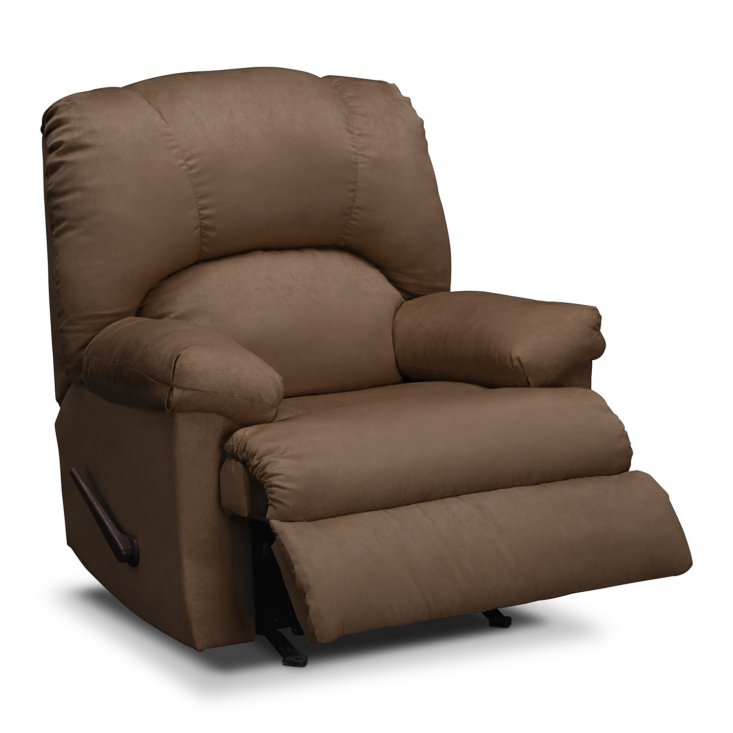 recliner elegant small upholstered and leather synthetic awesome space of white rocker