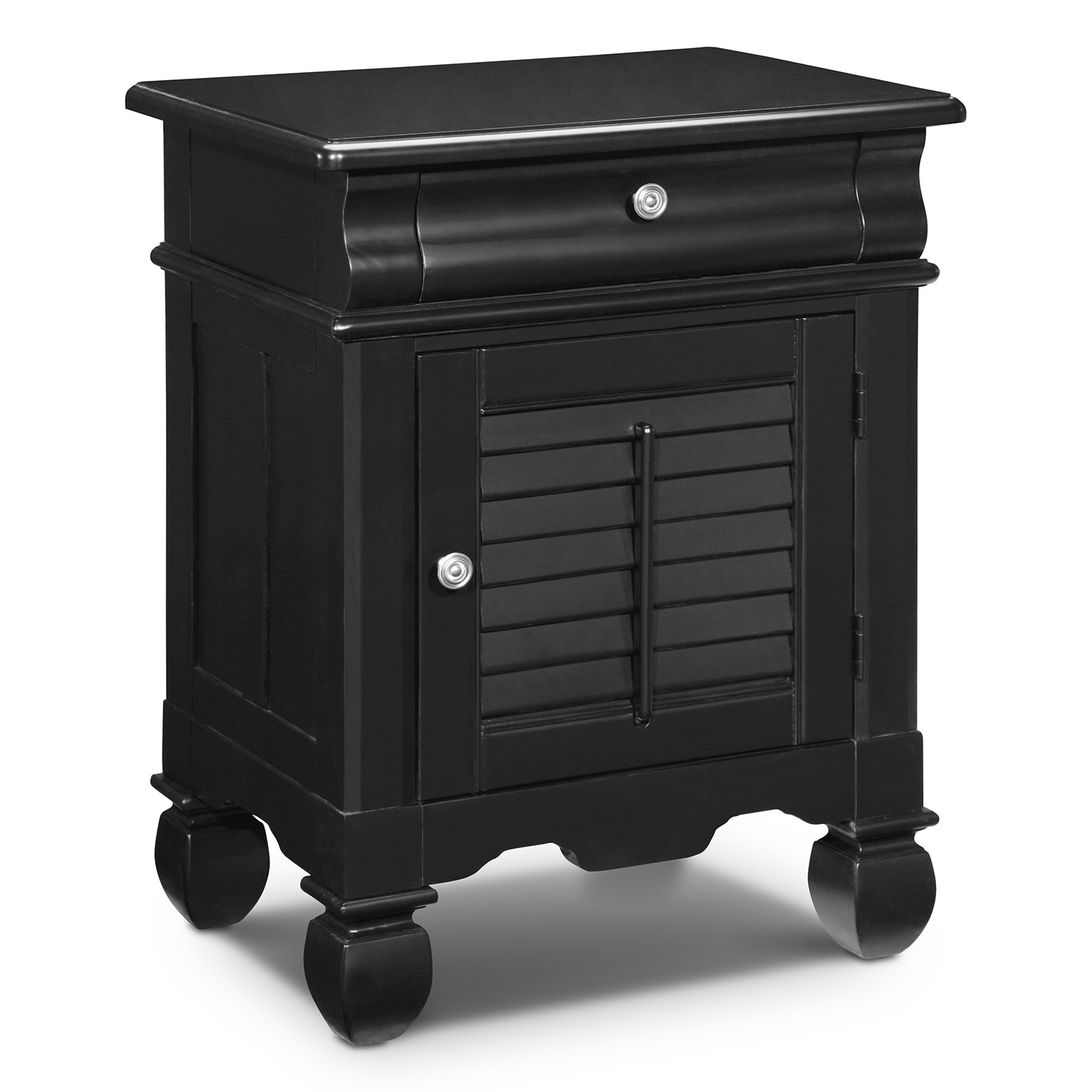 Bedroom Furniture - Plantation Cove Black Door Nightstand