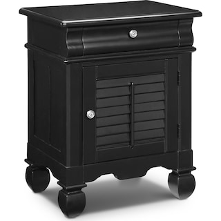 Plantation Cove Door Nightstand - Black