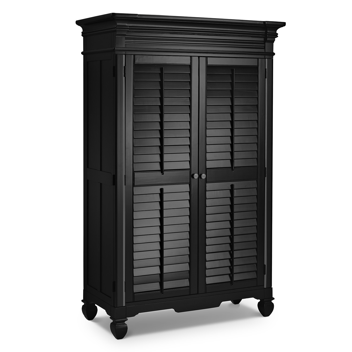Bedroom Furniture - Plantation Cove Black Armoire