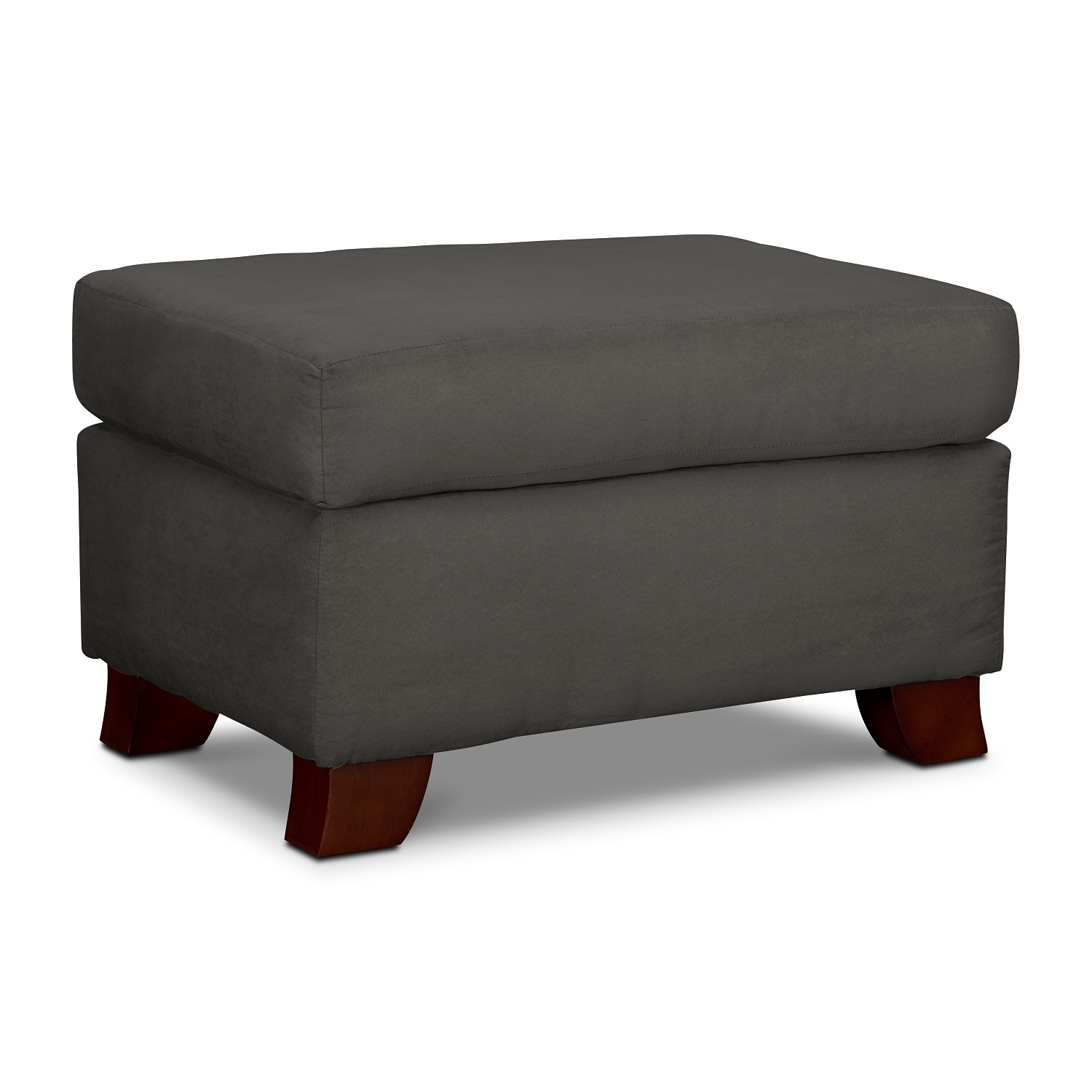 Living Room Furniture - Adrian Ottoman - Graphite