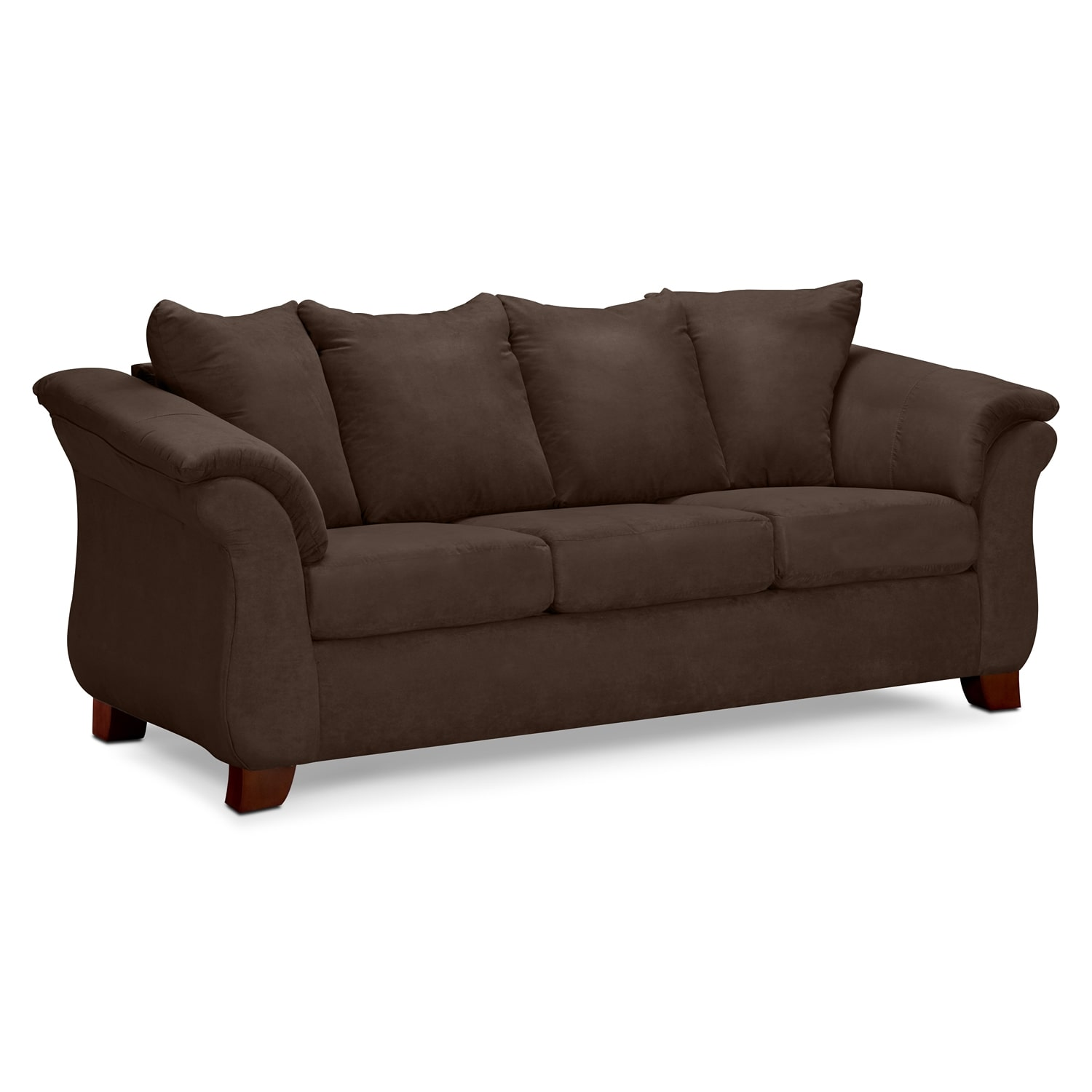 Living Room Furniture - Adrian Chocolate Sofa