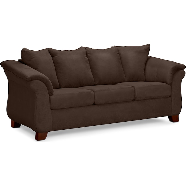 Living Room Furniture - Adrian Sofa - Chocolate