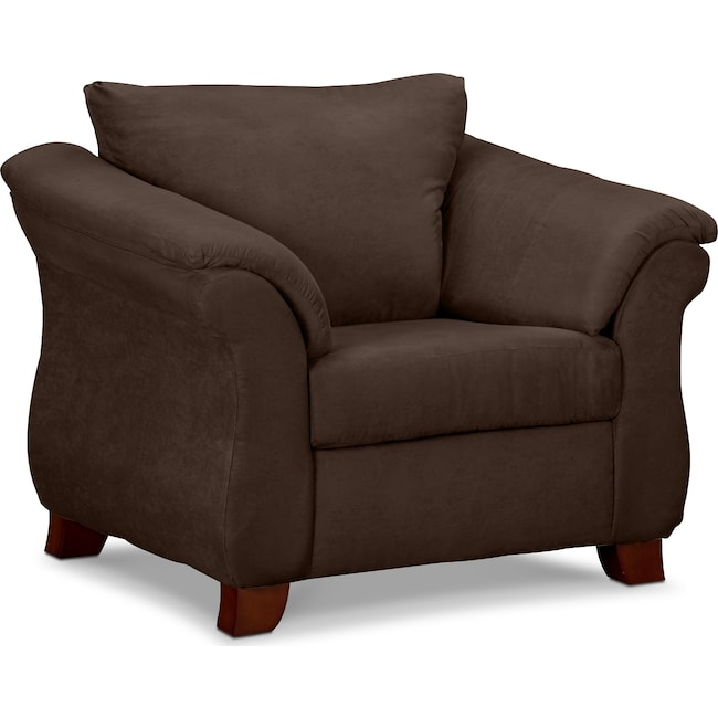 Living Room Furniture - Adrian Chair - Chocolate
