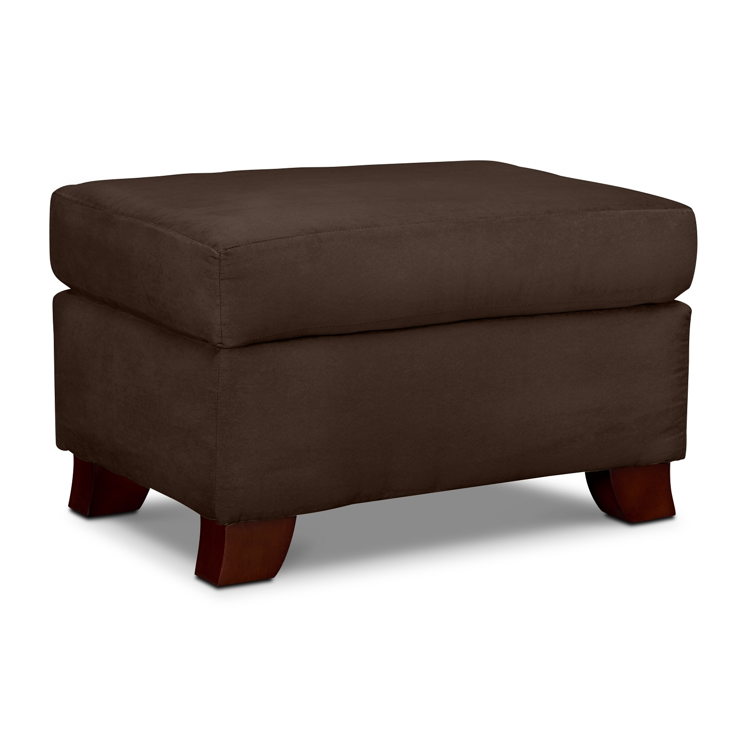 Living Room Furniture - Adrian Chocolate Ottoman