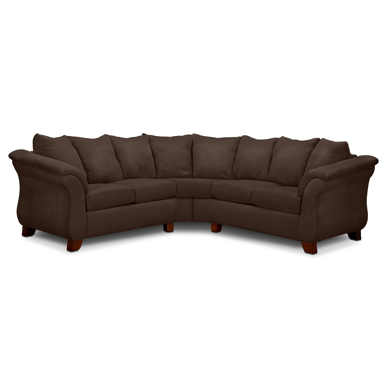 Adrian 2-Piece Sectional - Chocolate | Value City Furniture and ...