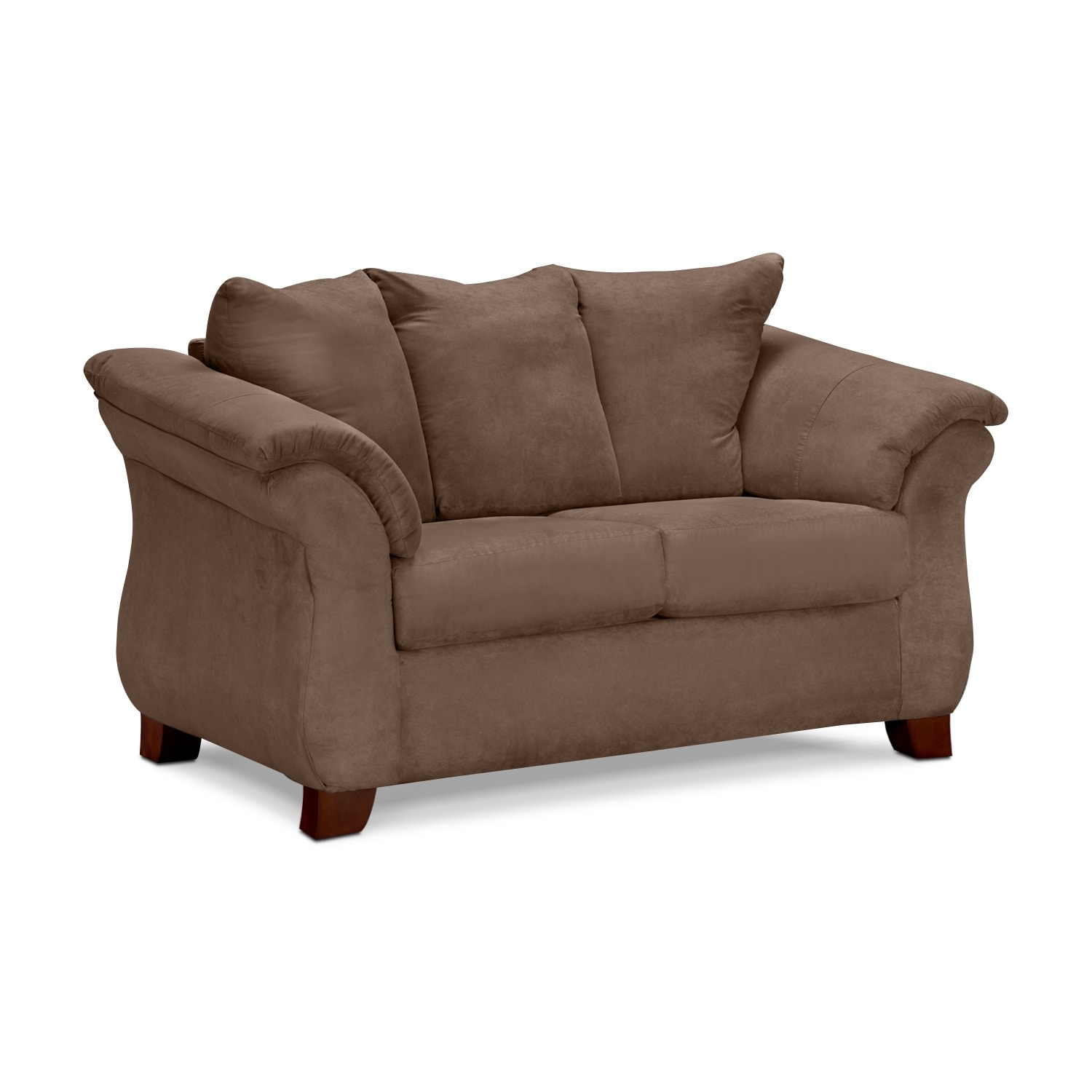 Living Room Furniture - Adrian Taupe Loveseat
