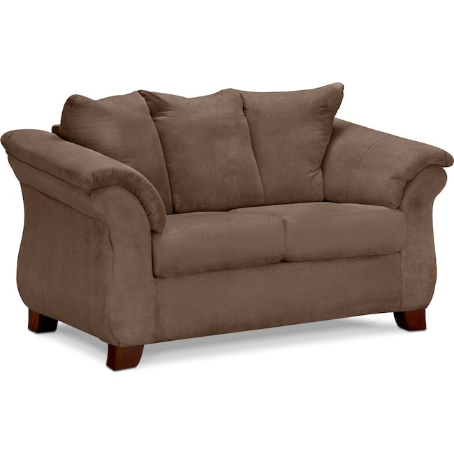 Living Room Furniture - Adrian Loveseat - Taupe