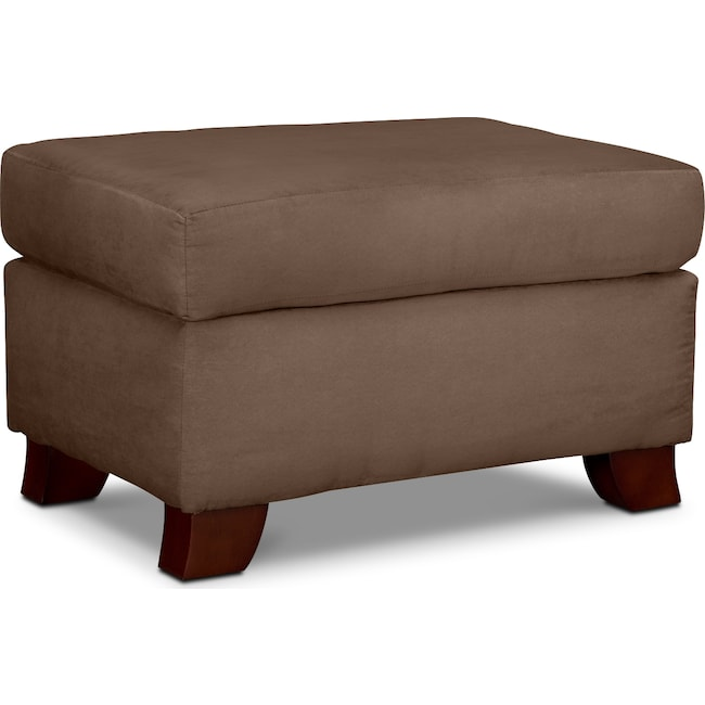 Living Room Furniture - Adrian Ottoman - Taupe