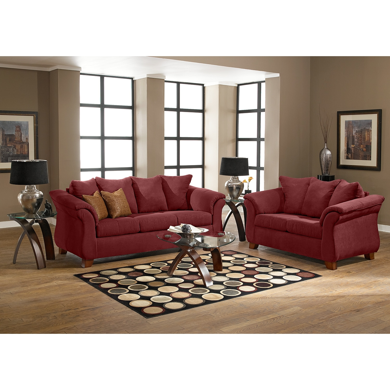 adrian sofa red value city furniture