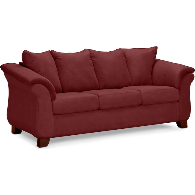 Living Room Furniture - Adrian Sofa - Red