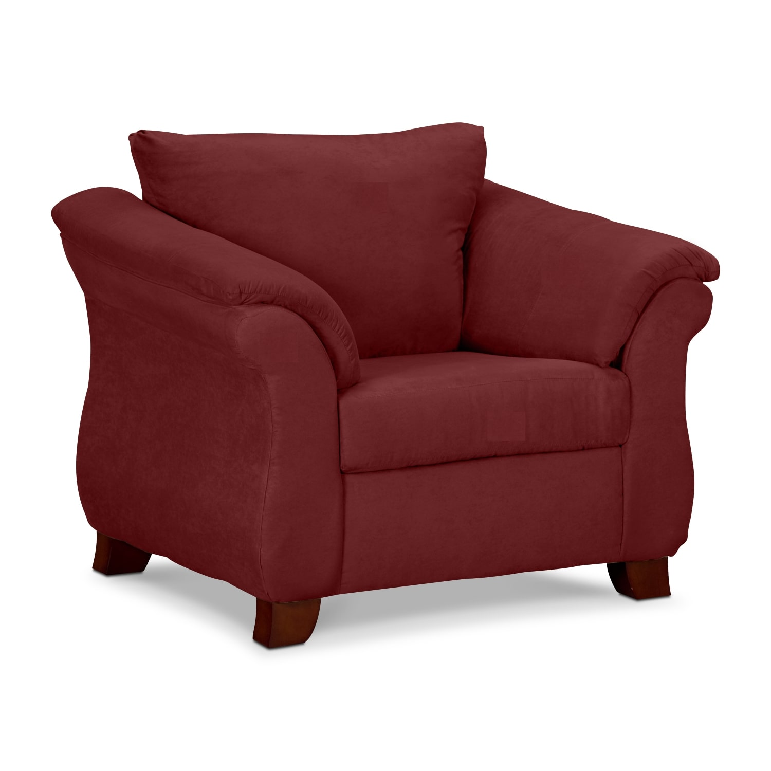 Living Room Furniture - Adrian Red Chair
