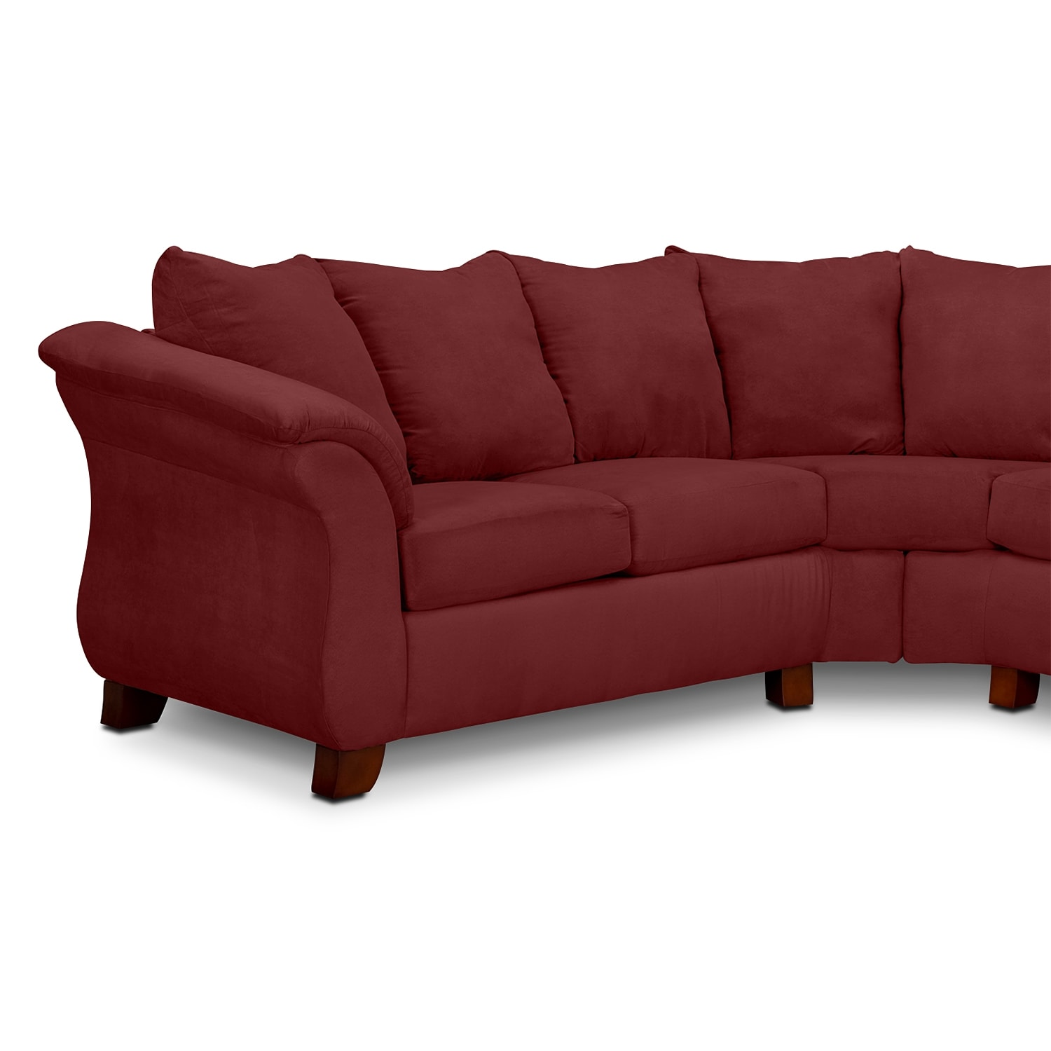 Adrian Red 2 Piece Sectional Red Value City Furniture : 273958 from www.valuecityfurniture.com size 1500 x 1500 jpeg 117kB
