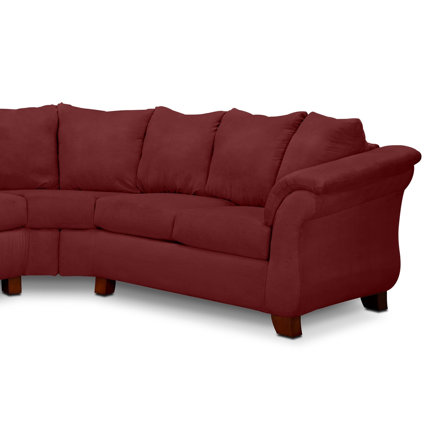Adrian Red 2Piece Sectional Red Value City Furniture