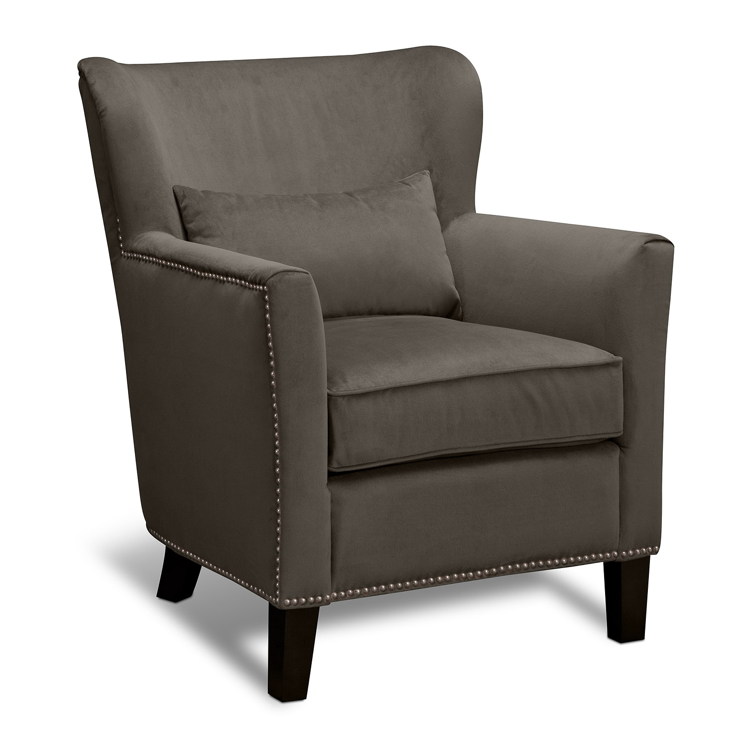 Living Room Furniture - Miata Accent Chair - Granite