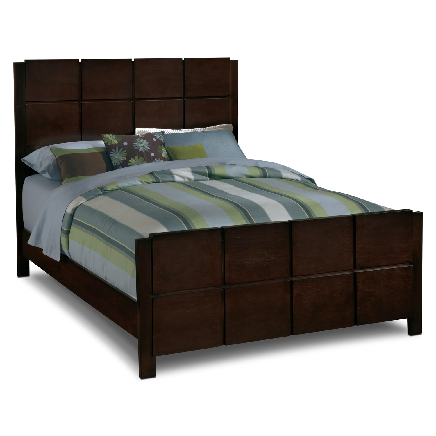 Mosiac Dark Brown Bed | Value City Furniture and Mattresses