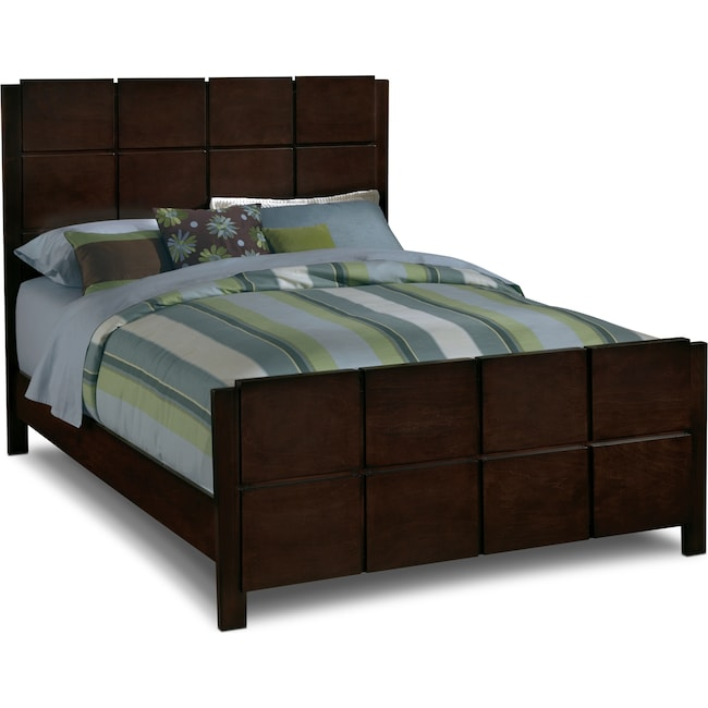 Mosaic Queen Bed Dark Brown Value City Furniture And