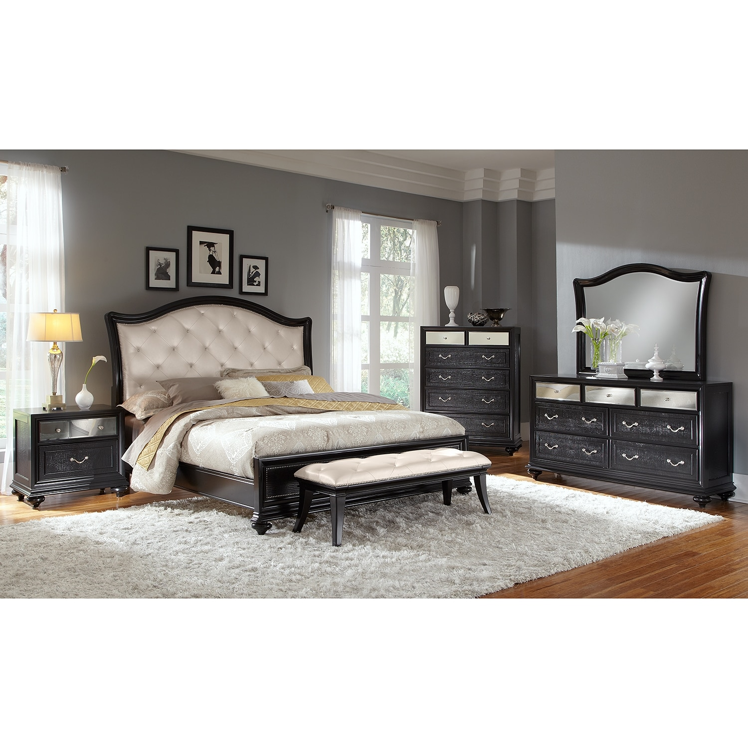 pulaski bedroom sets. Click to change image  Marilyn King Bed Ebony Value City Furniture and Mattresses