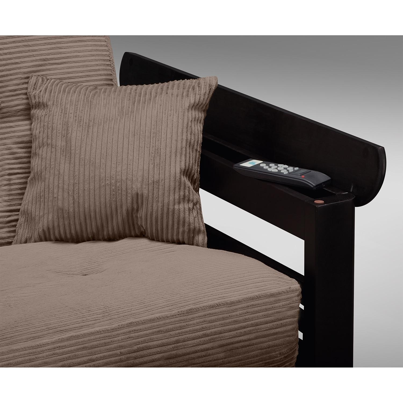 tampa futon sofa bed - beige | value city furniture and mattresses