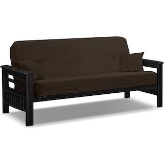 Tampa Futon Sofa Bed - Brown