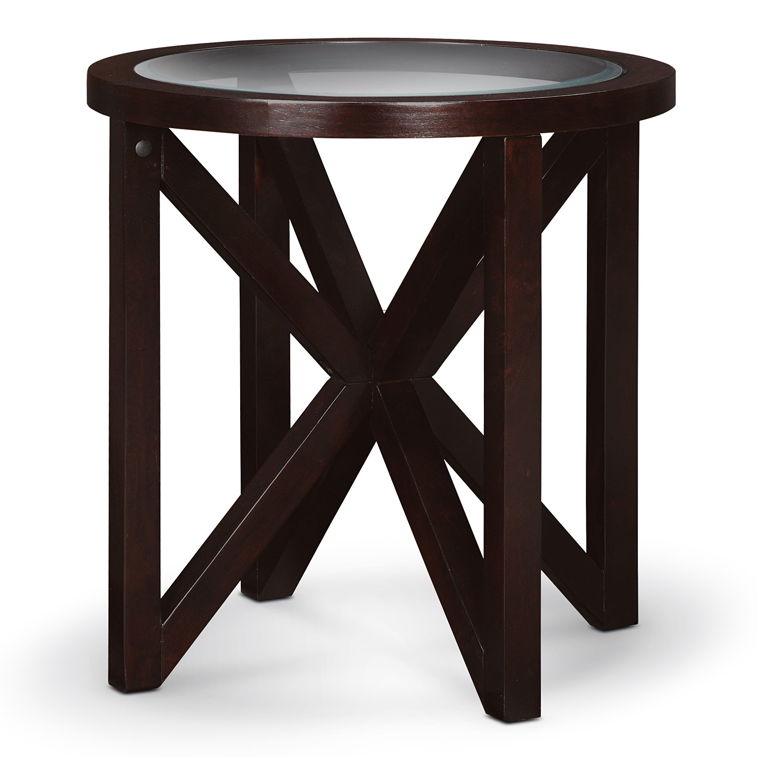 Starburst Cocktail Table And 2 End Tables Merlot Value