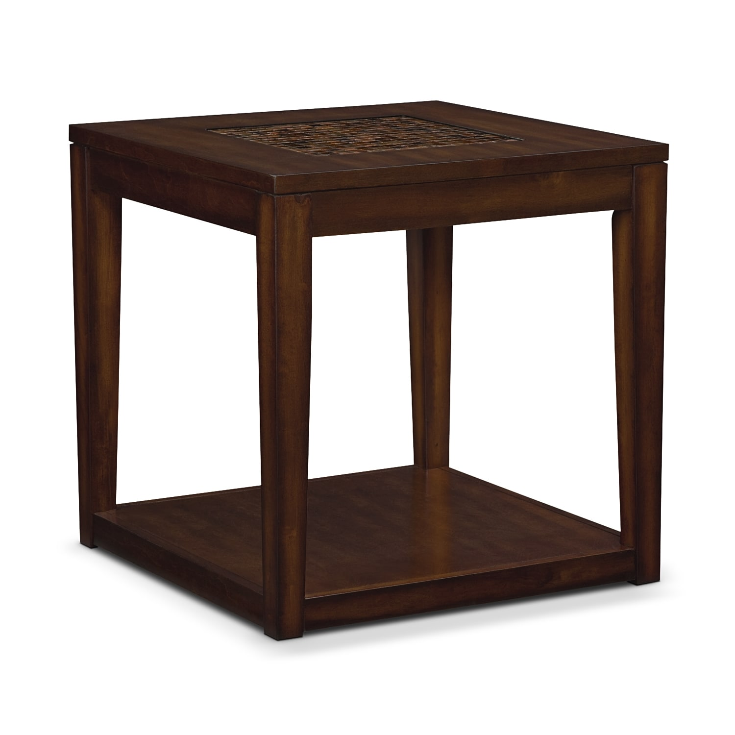 Carson End Table   Brown