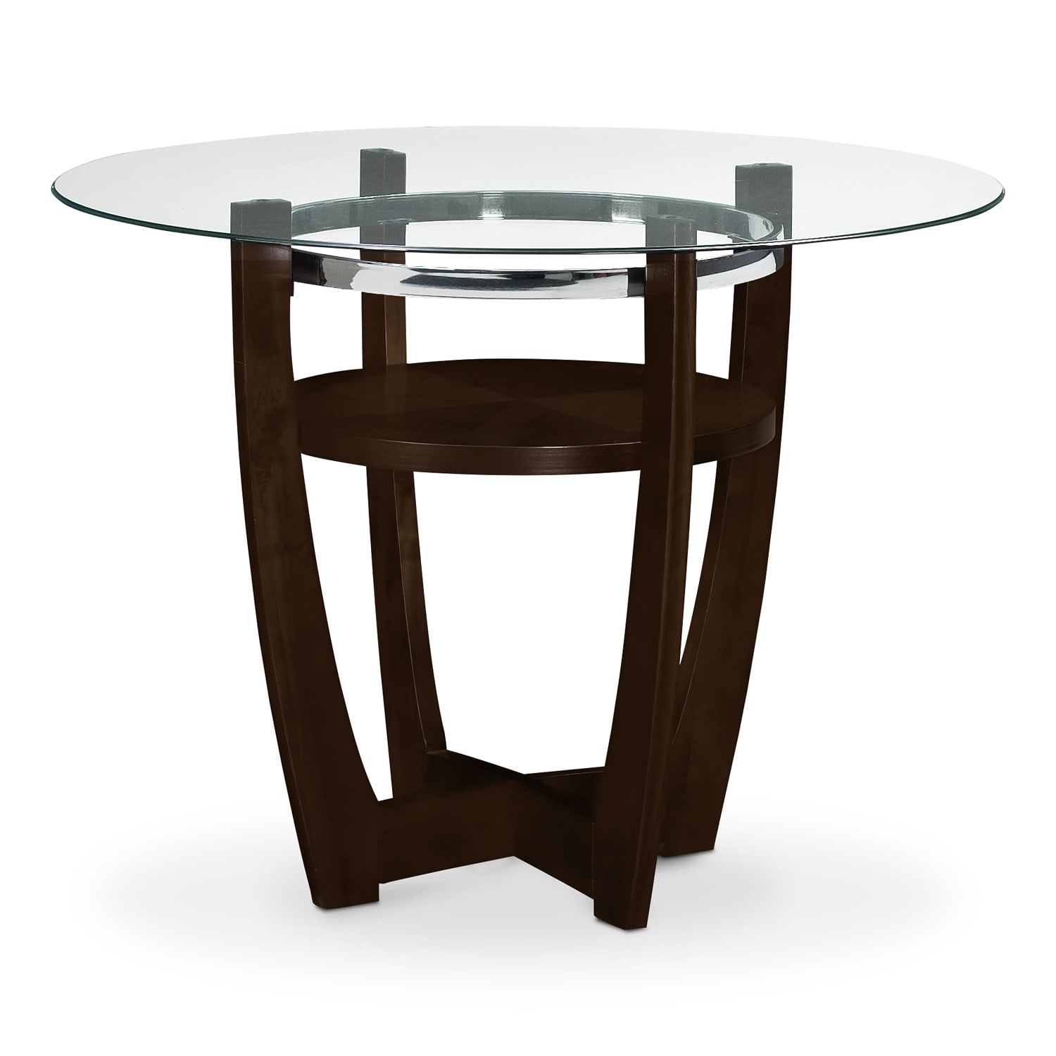 Alcove Counter-Height Table - Merlot | Value City Furniture