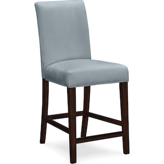 Alcove Counter-Height Stool - Aqua