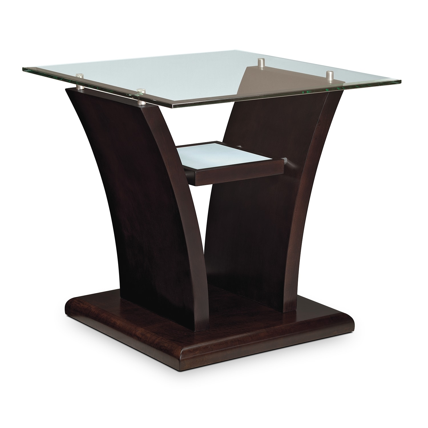 Bell Aer End Table Merlot