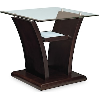 Bell Aer End Table - Merlot