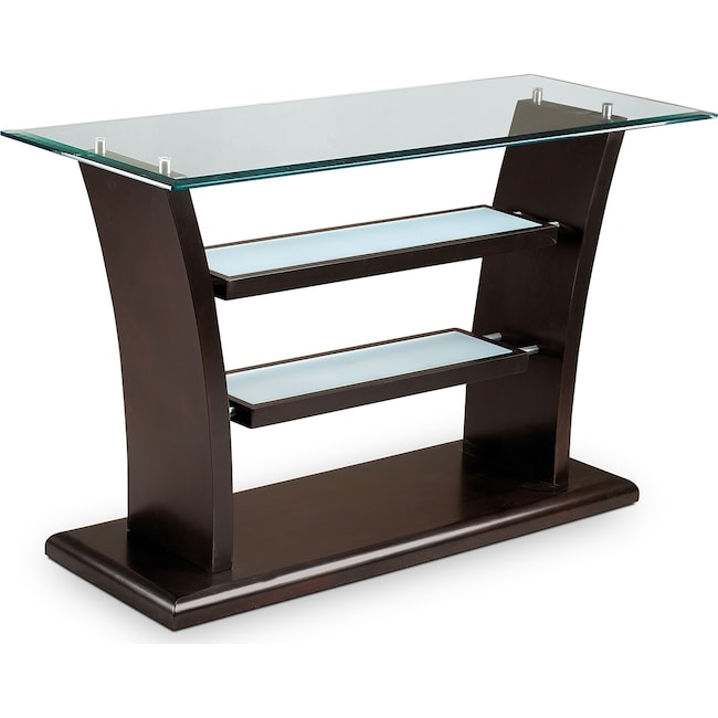 Accent and Occasional Furniture - Bell Aer Sofa Table - Merlot