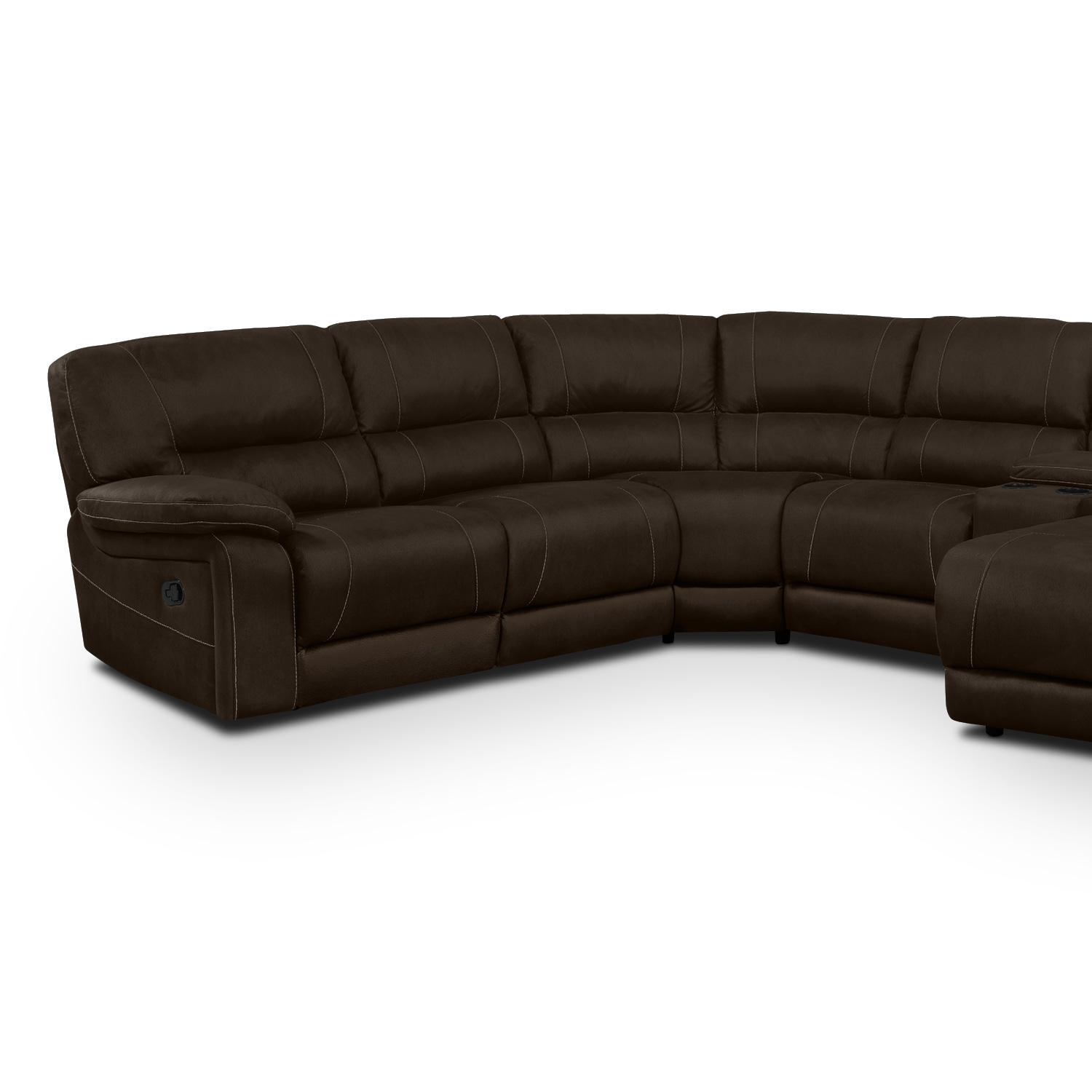 Wyoming 5 Piece Reclining Sectional with Right Facing Chaise