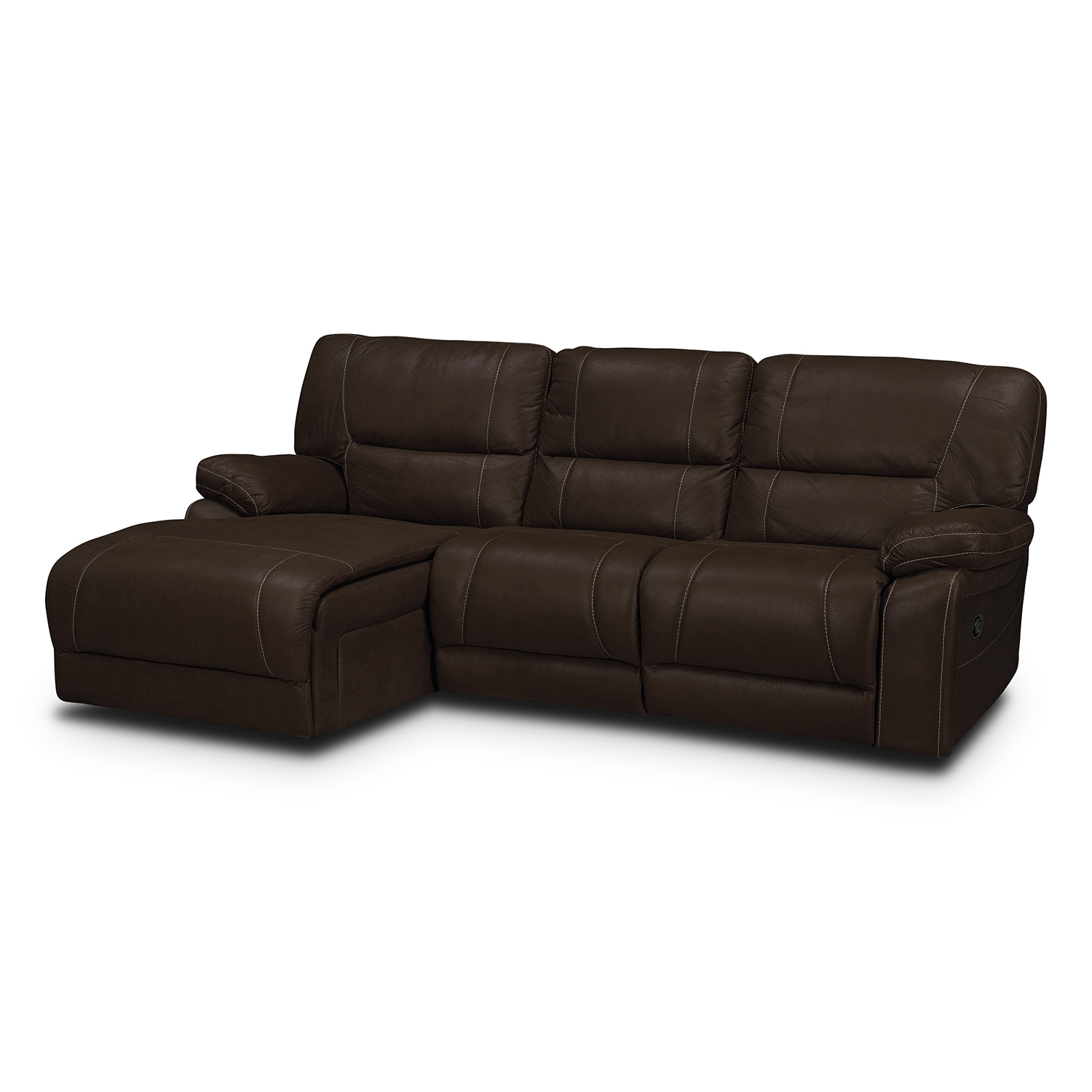 Living Room Furniture - Wyoming Saddle 2 Pc. Sectional (Reverse)