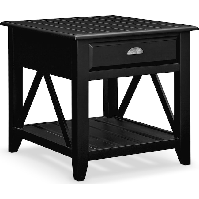 Accent And Occasional Furniture Plantation Cove Coastal End Table Black