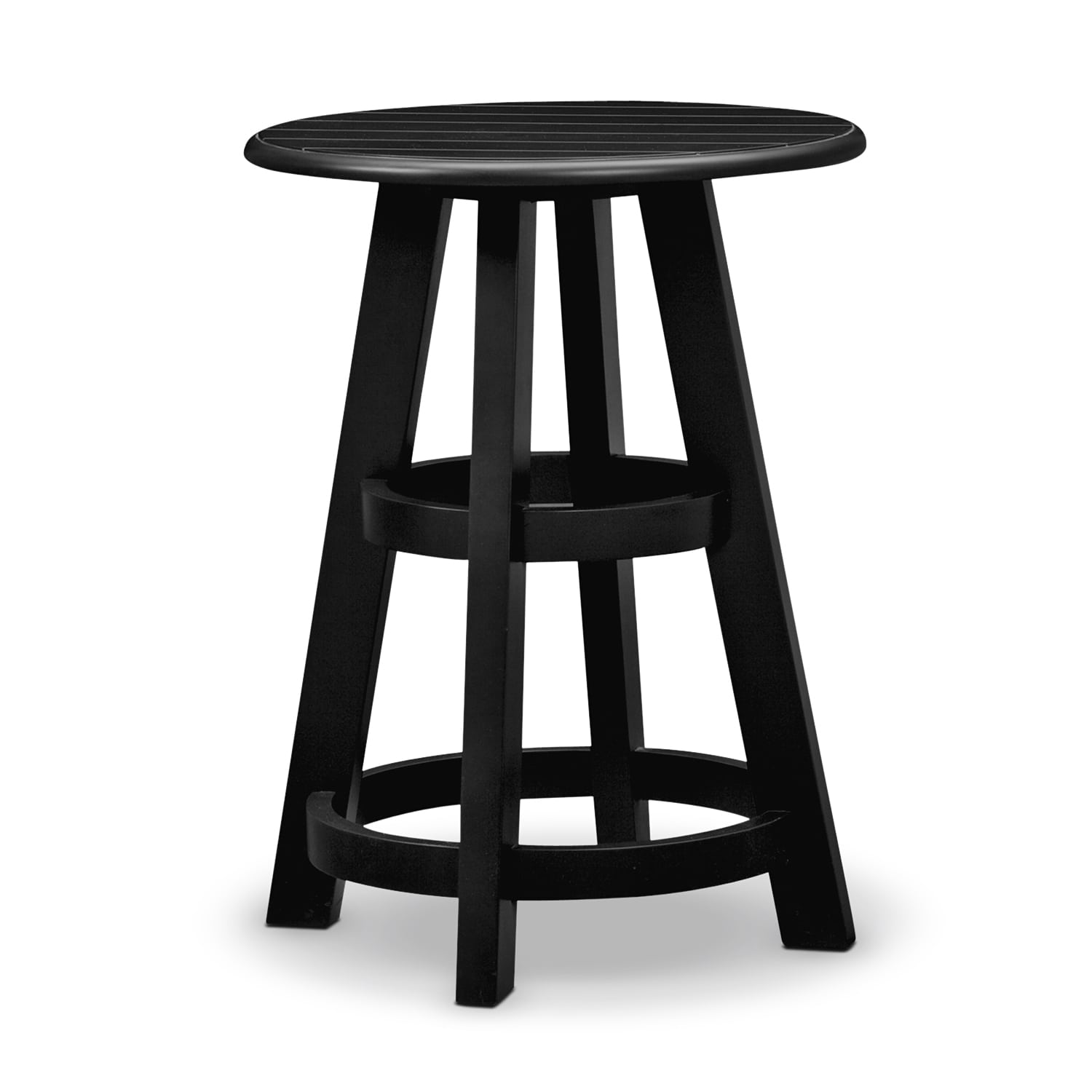 Was $129.99 Today $103.99 Plantation Cove Coastal Chairside Table   Black