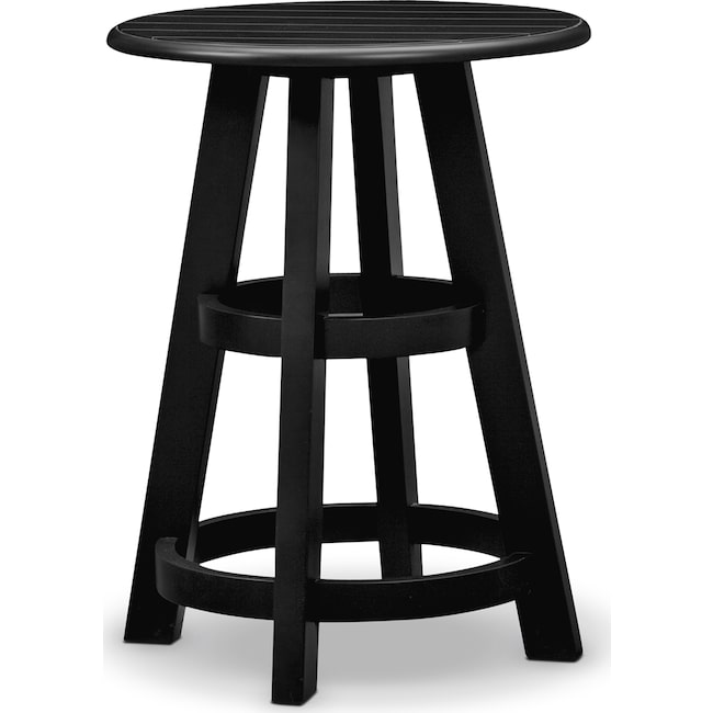 Accent And Occasional Furniture Plantation Cove Coastal Chairside Table Black