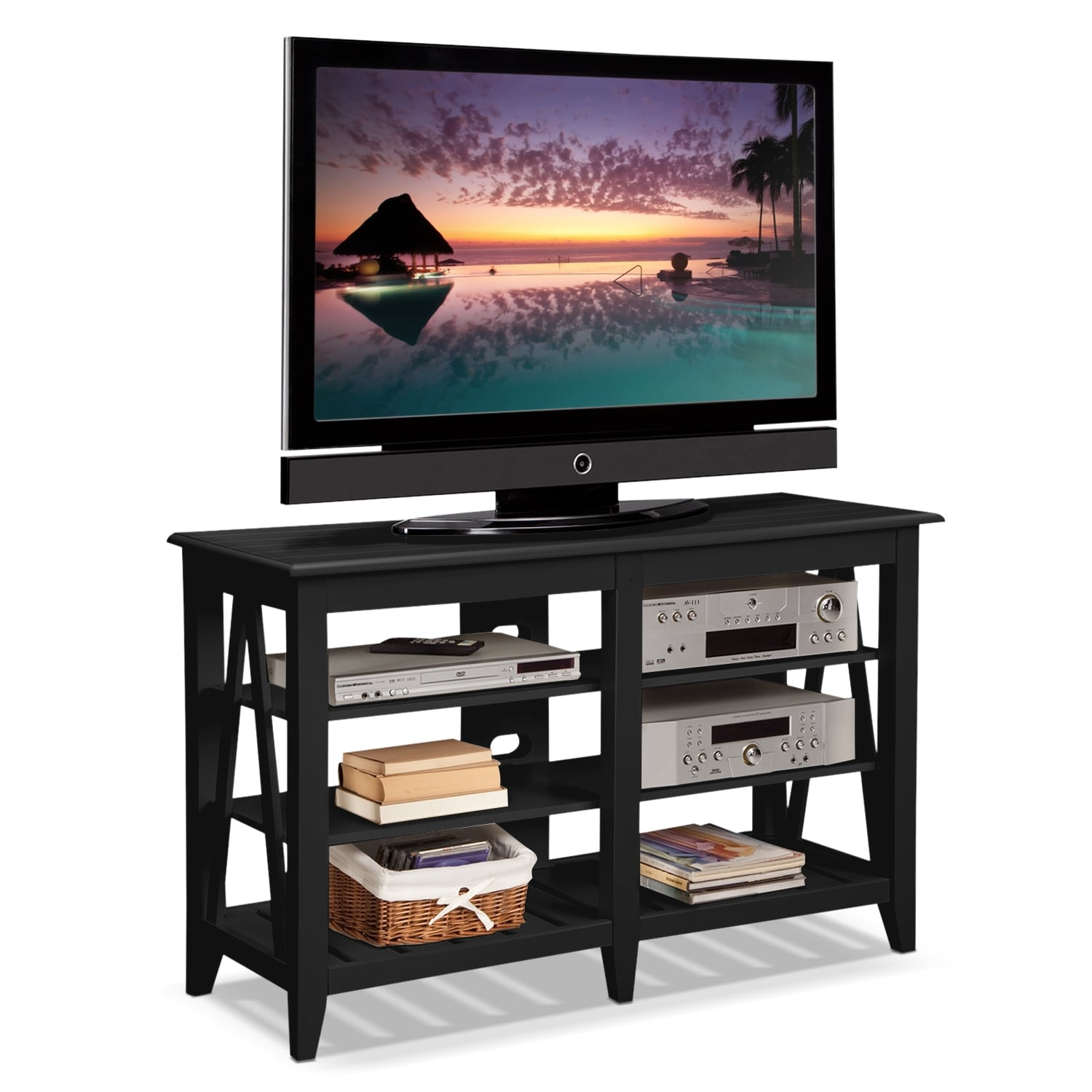 Plantation Cove Coastal TV Stand