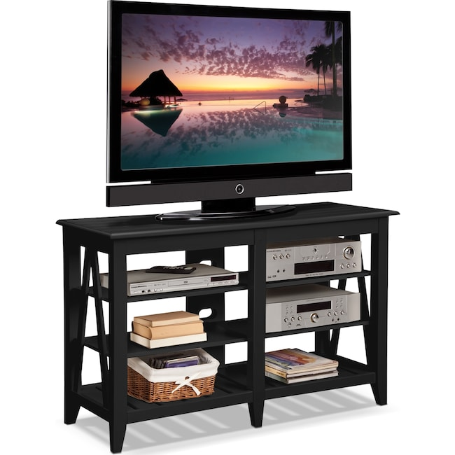 Entertainment Furniture - Plantation Cove Coastal TV Stand - Black