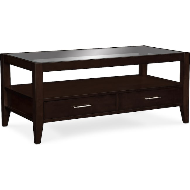 Accent and Occasional Furniture - Clarity Cocktail Table - Chocolate