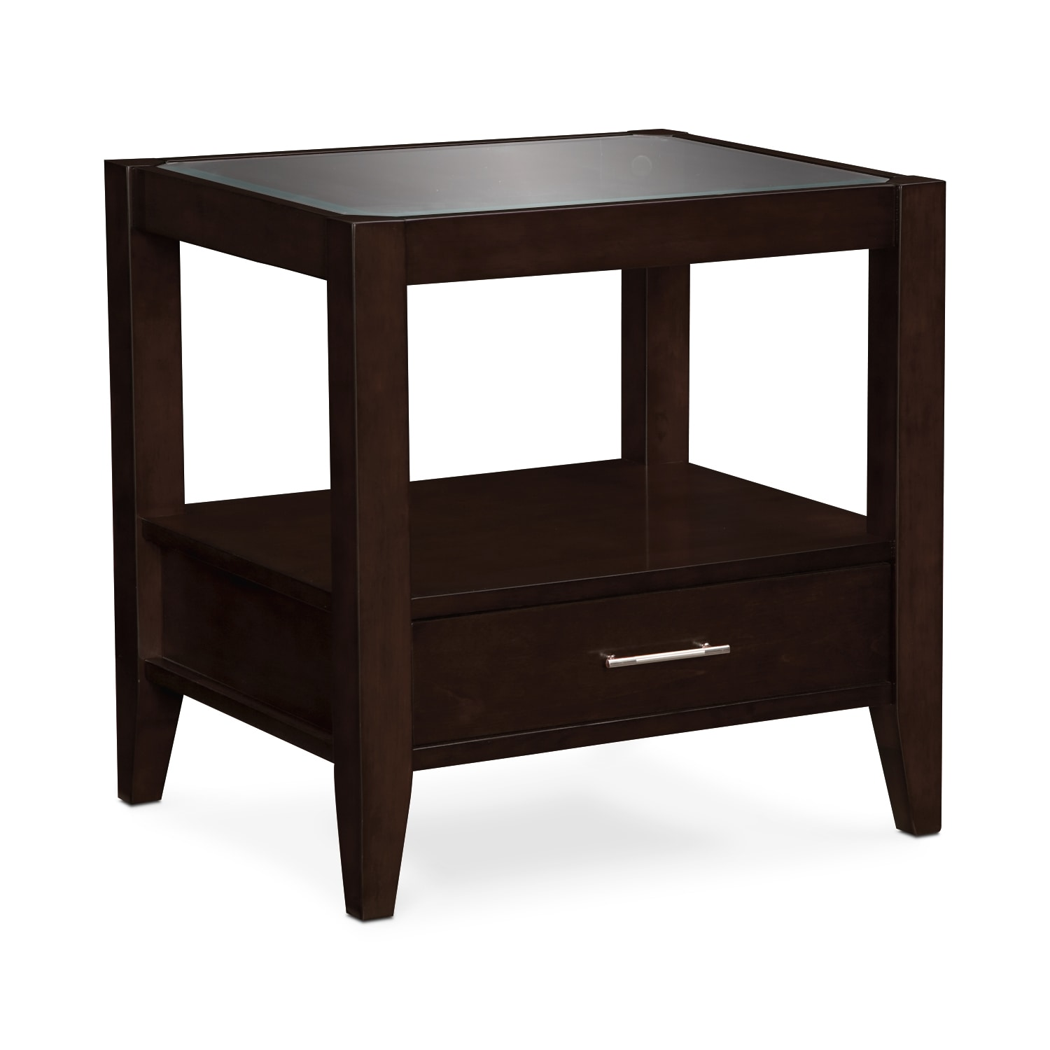 Clarity End Table - Chocolate