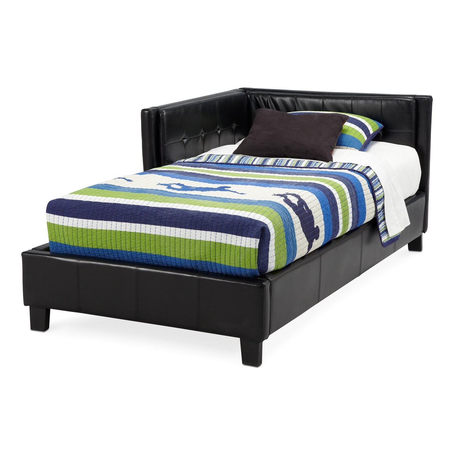 jordan full corner bed black