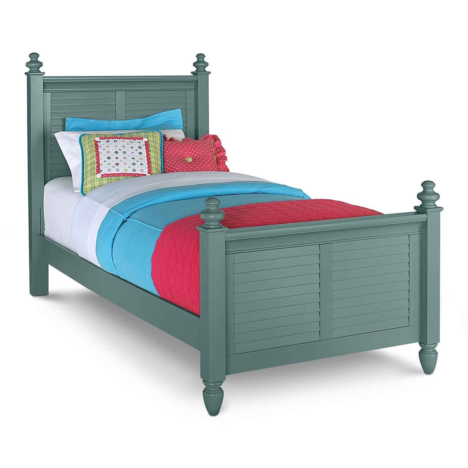 Kids Furniture - Seaside Twin Bed - Blue