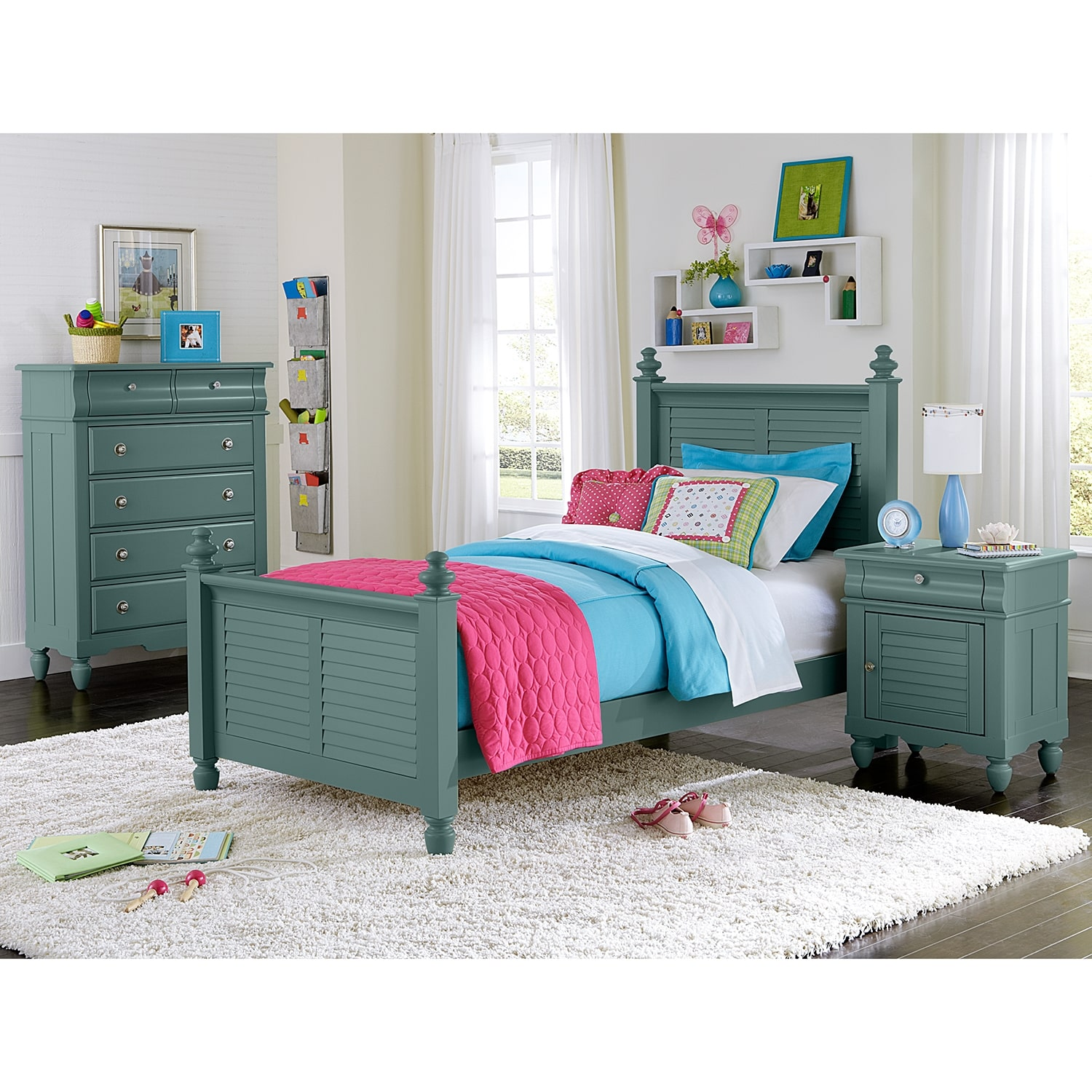 Seaside Bedroom Accessories Seaside Twin Bed Blue Value City Furniture
